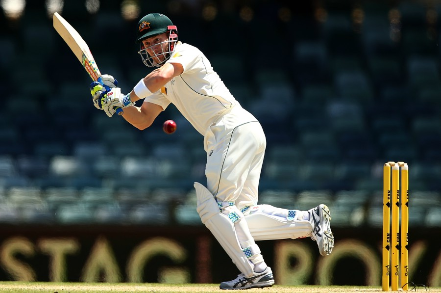 Peter Nevill clips the ball en route to his half-century, Australia v South Africa, 1st Test, Perth, 5th day, November 7, 2016