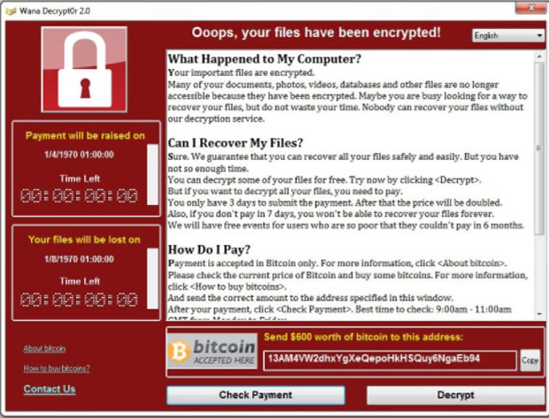 WannaCry-infection