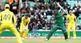 Bangladesh's Mahmudullah is bowled out by Australia's Adam Zampa (not in picture) during the ICC Champions Trophy, Group A match at The Oval, London. (Photo by Adam Davy/PA Images via Getty Images)