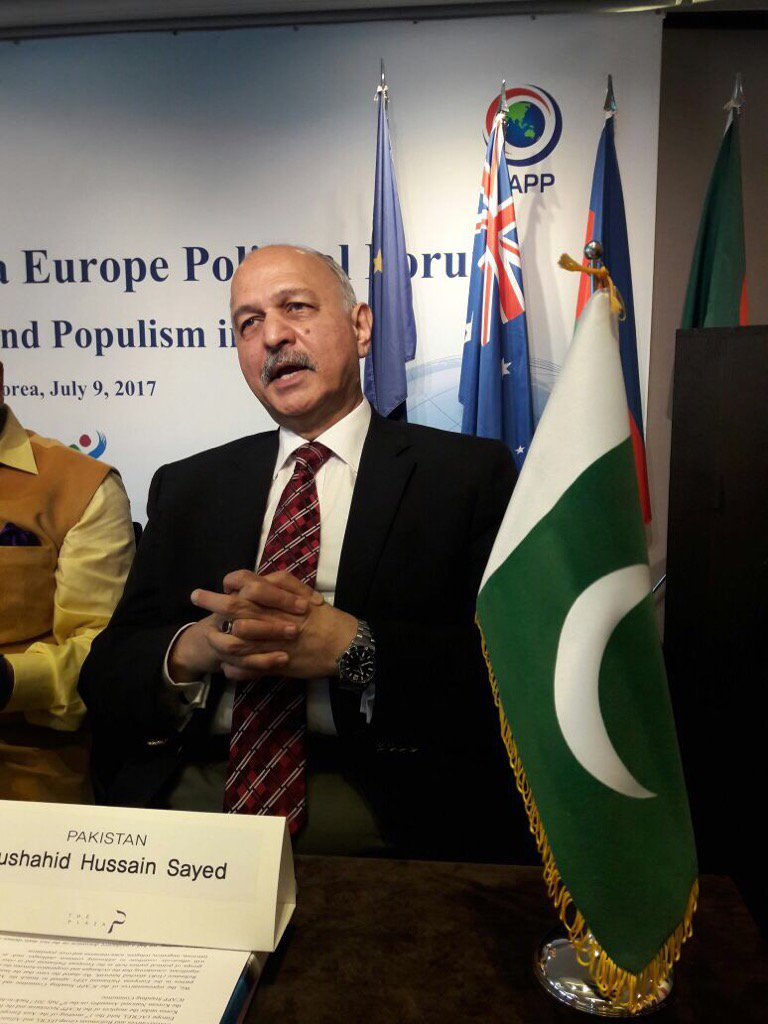 Mushahid elected ICAPP vice chairman