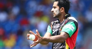 FORT LAUDERDALE, FL - AUGUST 05: In this handout image provided by CPL T20, Hasan Ali of the St Kitts and Nevis Patriots during Match 2 of the 2017 Hero Caribbean Premier League between Guyana Amazon Warriors v St Kitts and Nevis Patriots at Central Broward Regional Park Stadium on August 5, 2017 in Fort Lauderdale, Florida. (Photo by Ashley Allen - CPL T20 via Getty Images)