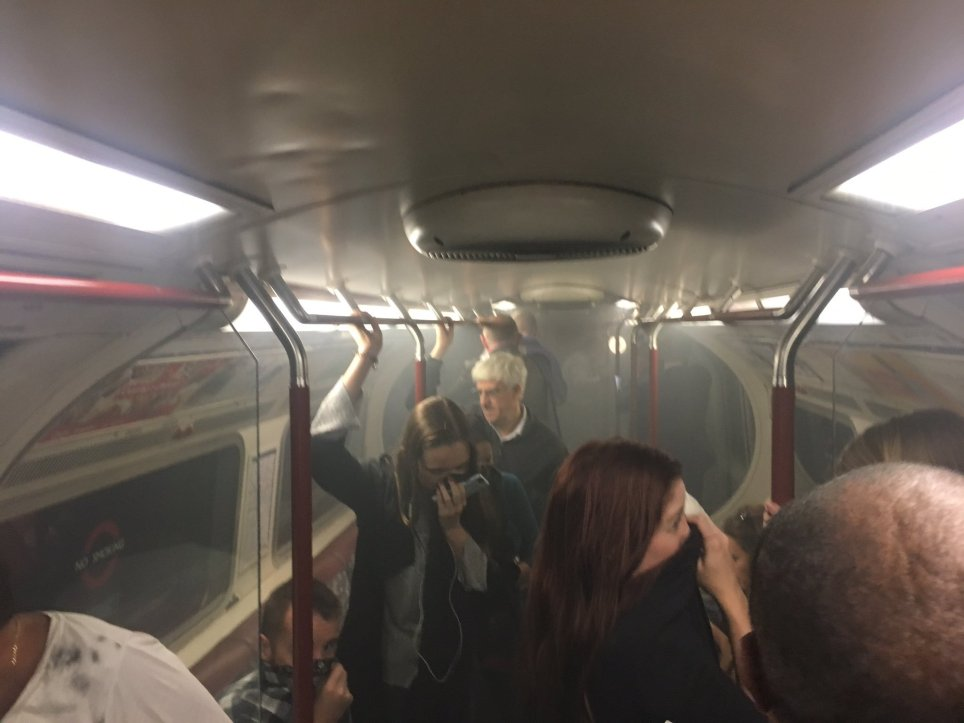Tube Fire Picture: Twitter/jnzbunting