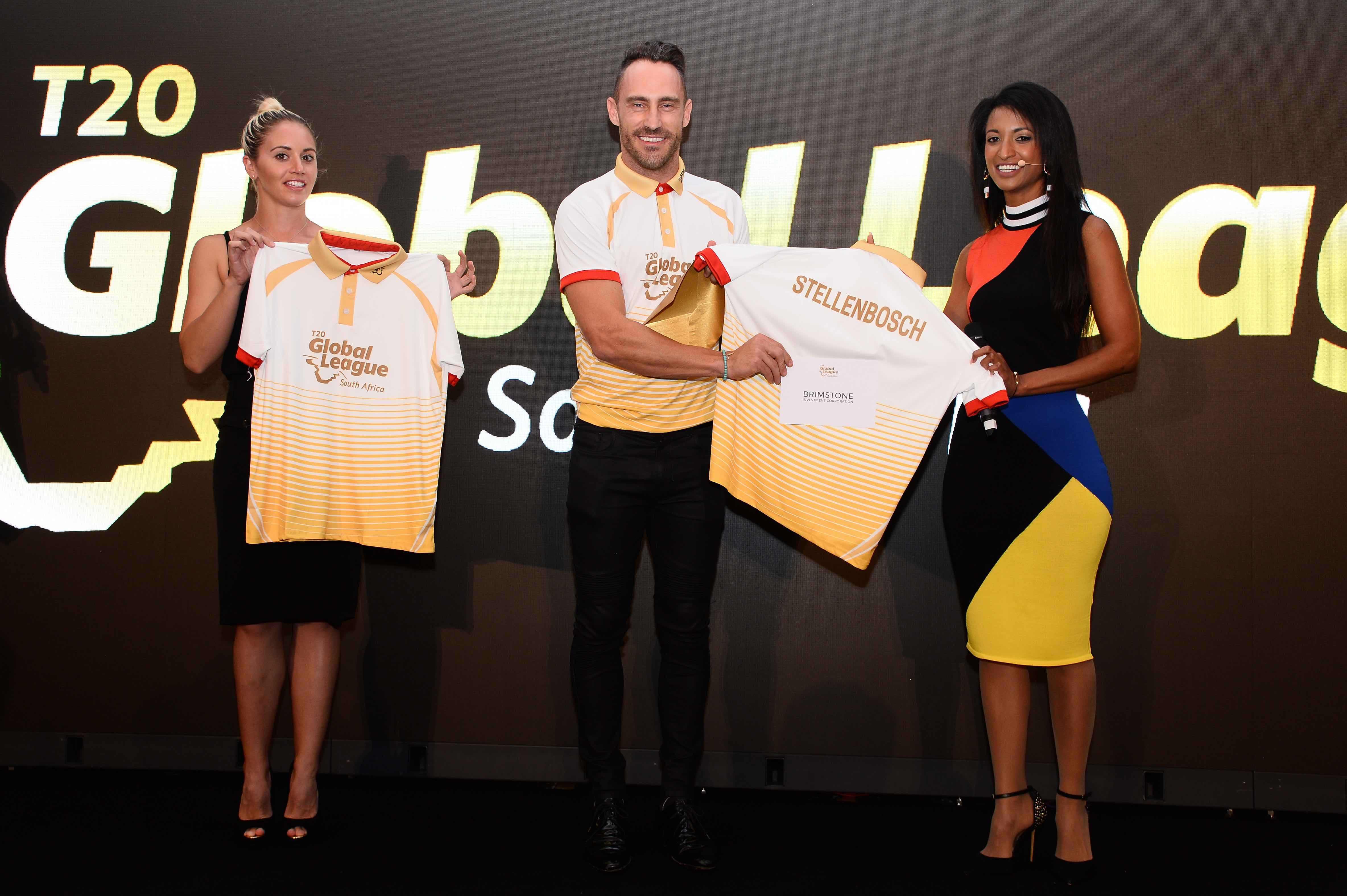 LONDON, ENGLAND - JUNE 19: Faf du Plessis during the T20 Global League Launch at Bvlgari Hotel London on June 19, 2017 in London, England. (Photo by Patrik Lundin/Gallo Images)