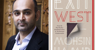 Undated handout photos issued by the Man Booker Prize of Mohsin Hamid, with the cover of his book Exit West, one of the shortlisted books for the Man Booker Prize 2017.