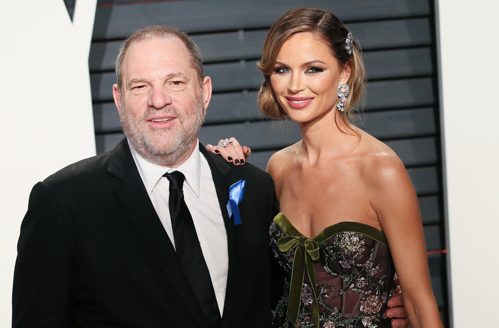 BEVERLY HILLS, CA - FEBRUARY 26: Harvey Weinstein and Georgina Chapman attend the 2017 Vanity Fair Oscar Party hosted by Graydon Carter at the Wallis Annenberg Center for the Performing Arts on February 26, 2017 in Beverly Hills, California. (Photo by David Livingston/Getty Images)
