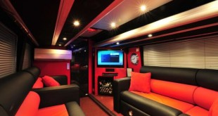 One Direction tour bus inside