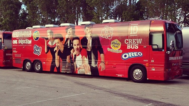 One Direction tour bus