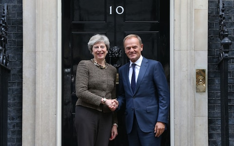 Theresa May - Donald Tusk