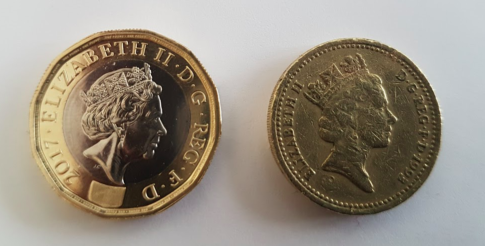pound coins OLD-NEW