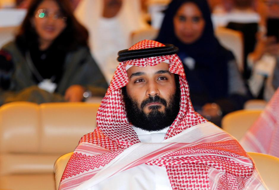 FILE PHOTO - Saudi Crown Prince Mohammed bin Salman attends the Future Investment Initiative conference in Riyadh, Saudi Arabia October 24, 2017. REUTERS/Hamad I Mohammed