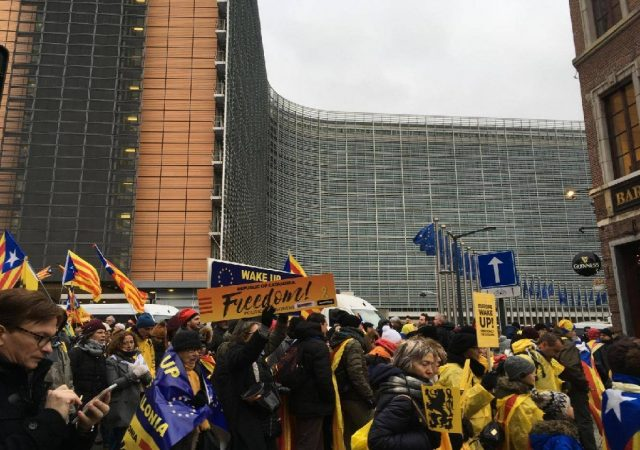 Catalans march in Brussels