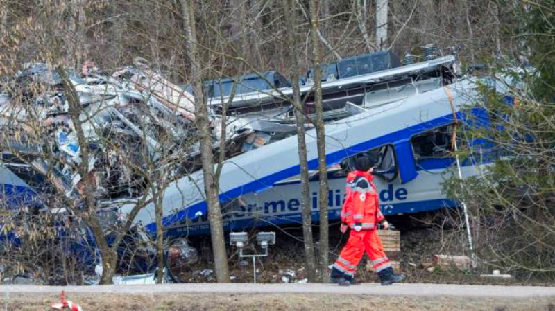 German trains collide