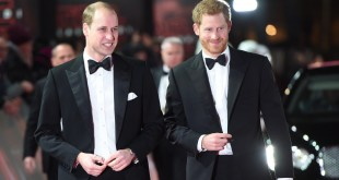 Princes William-Harry-Star-Wars-London-premiere