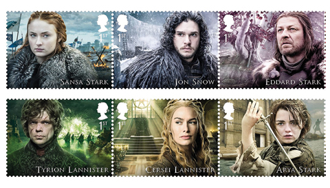 Britain celebrates Game of Thrones with stamps
