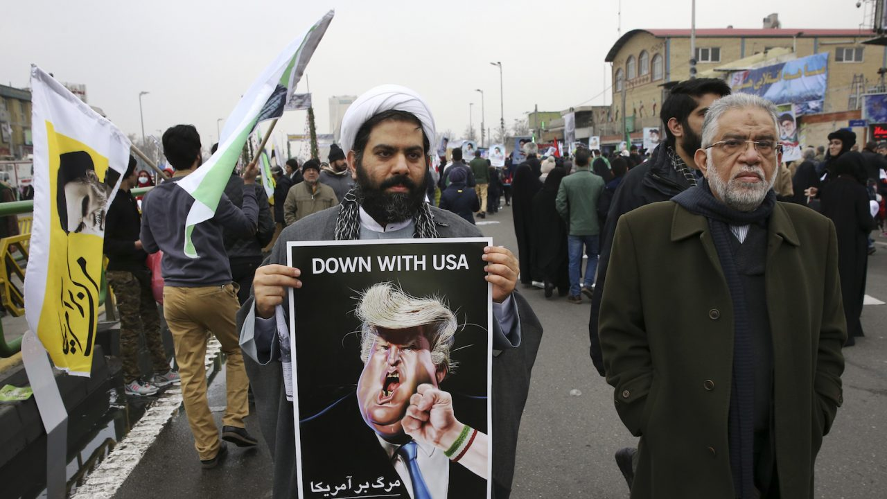 Iran protests US