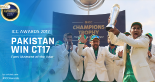 Pakistan's Champions Trophy victory ICC fans moment of year award