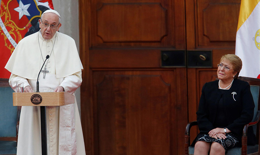 Pope Francis visit Chile