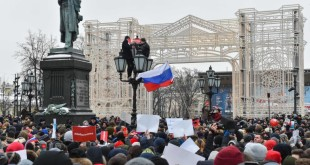 Supporters of opposition leader Alexei N