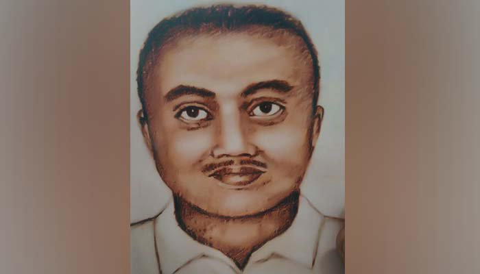 Sketch of the suspect released by the Punjab Police