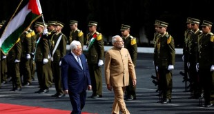 India pledges $40 million aid to Palestine