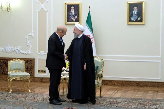 France's Le Drian in Tehran