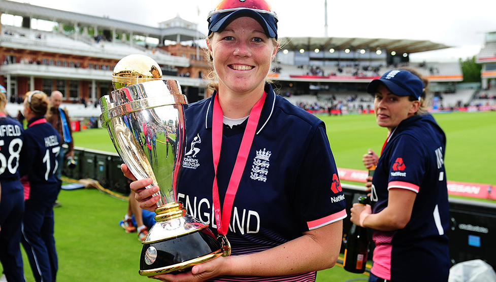 England's woman cricketer Anya Shrubsole