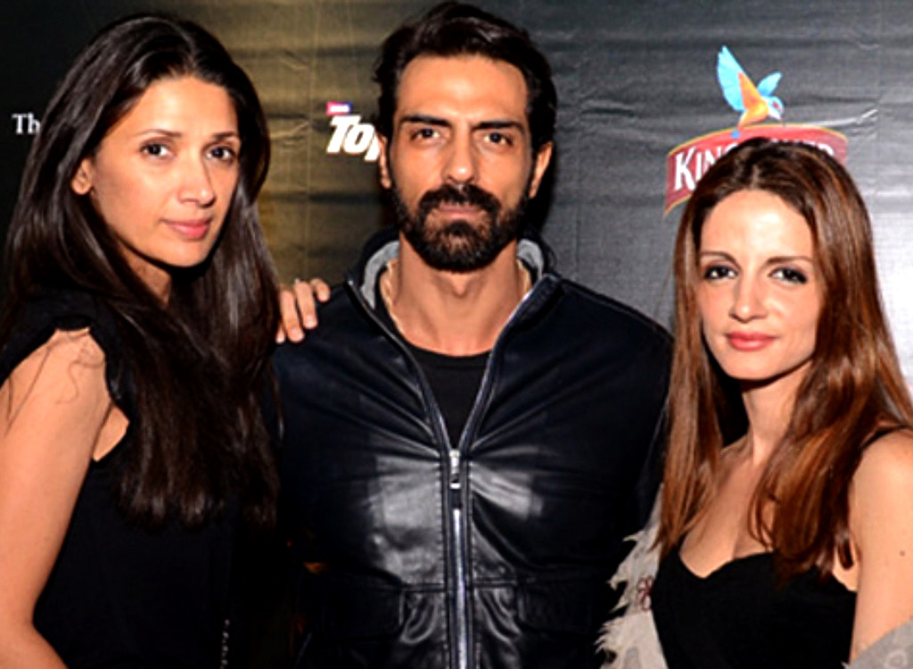 Arjun Rampal with Suzzane