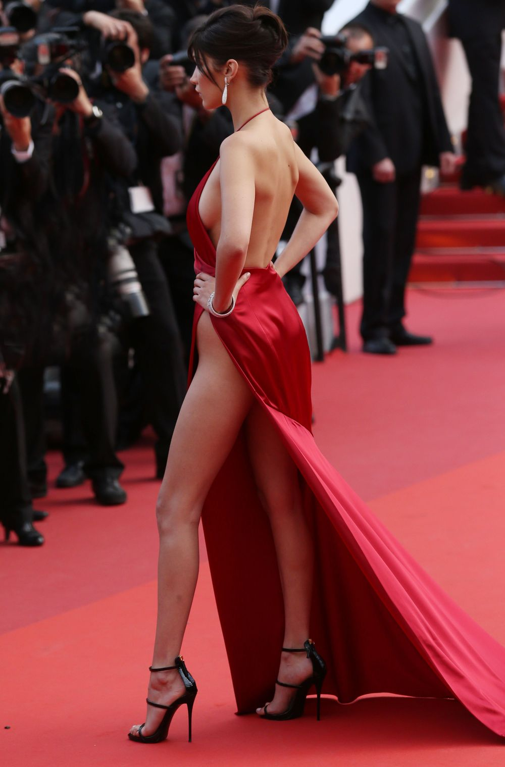 Mandatory Credit: Photo by James Gourley/REX/Shutterstock (5689201ay) Bella Hadid 'The Unknown Girl' premiere, 69th Cannes Film Festival, France - 18 May 2016