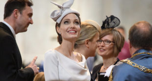 LONDON, ENGLAND - JUNE 28: Actress and director Angelina Jolie arrives ahead of the Service of Commemoration and Dedication, marking the 200th anniversary of the Most Distinguished Order of St Michael and St George at St Paul's Cathedral on June 28, 2018 in London, England. The Order of St Michael and St George is awarded to men and women who hold high office or who render extraordinary or important non-military service in a foreign country, and can also be conferred for important or loyal service in relation to foreign and Commonwealth affairs. Britain's Queen Elizabeth II was due to attend the service but cancelled at late notice due to suffering from a slight illness. (Photo by Leon Neal - WPA Pool/Getty Images)